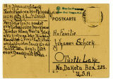 Letter to Johannes and Christina Schock from Johannes and Alma Schock - November 18, 1947
